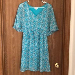 Printed Blue Dress